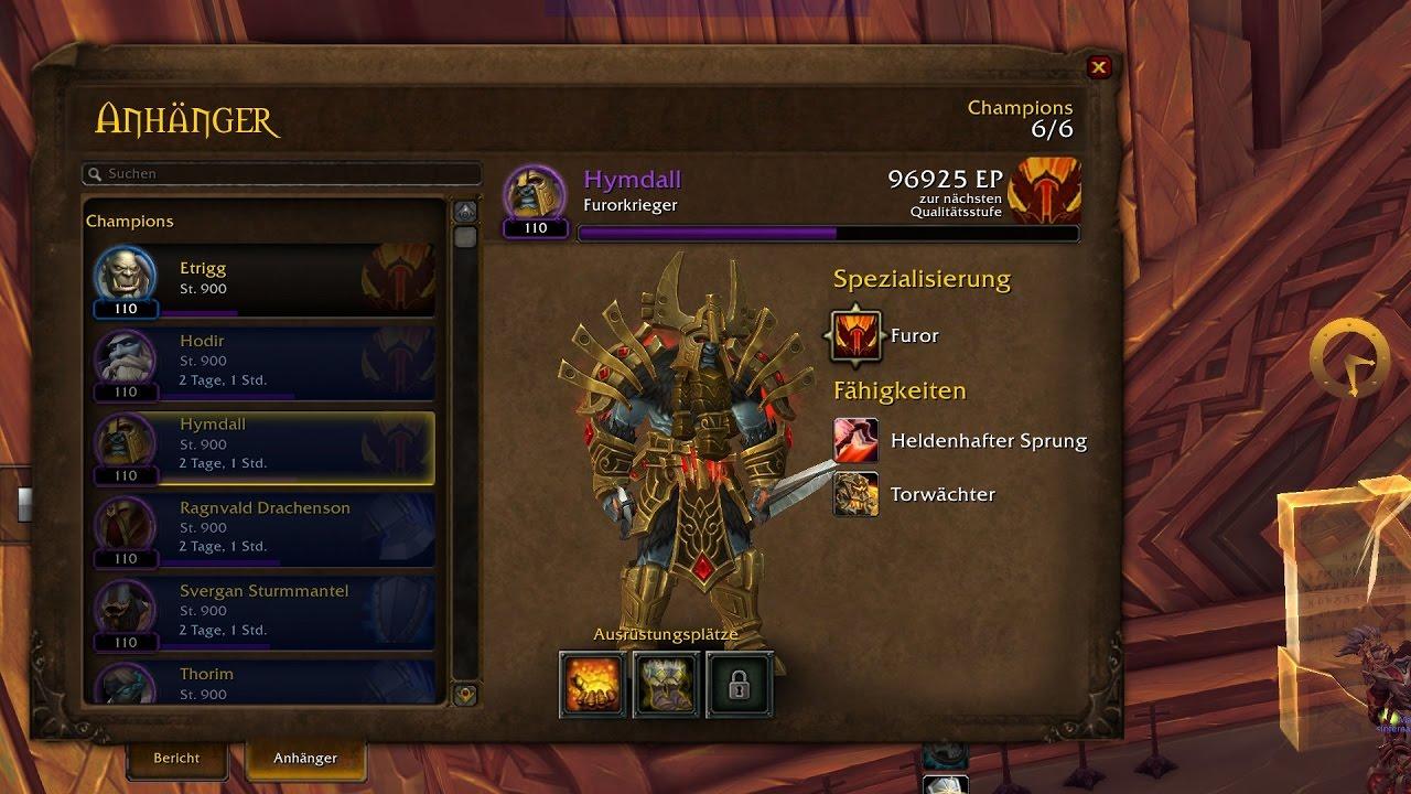 wow legion campaign warrior 3th champion follower hymdall