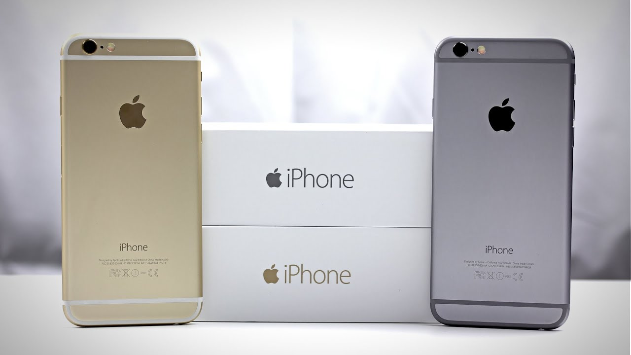 Apple iPhone 6 (Gold + Space Gray) - Unpacking