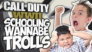 "CALL OF DUTY WWII: SCHOOLING WANNABE TROLLS!! ""COD WWII TROLLING"""