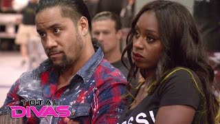The Superstars express their nervousness before the WWE Brand Extension: Total Divas, Jan. 25, 2017