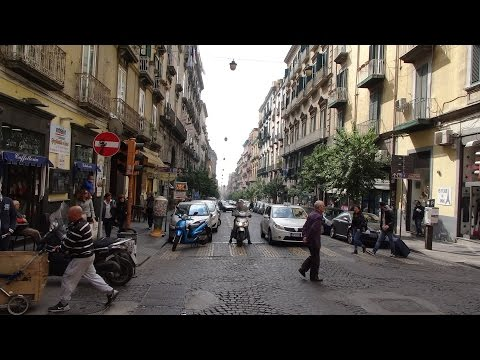 Italy, Naples: An amazing walk around Naples showing the crazy traffic / people / street sellers