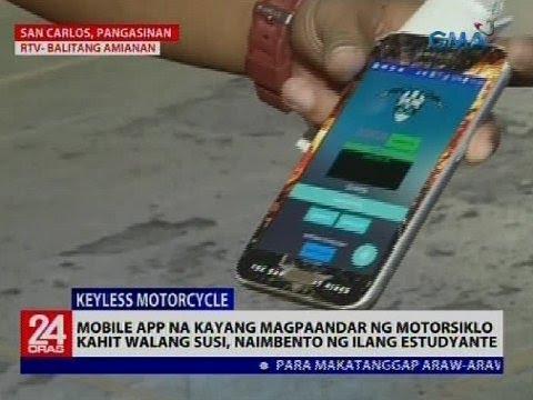 Mobile app na kayang magpaandar ng motorsiklo kahit walang susi, naimbento ng ilang estudyante