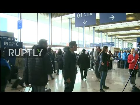 LIVE from inside Paris Orly airport as site reopens after shooting