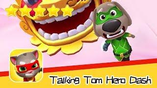 Talking Tom Hero Dash Run Game Day68 Walkthrough Dragonland Recommend index five stars