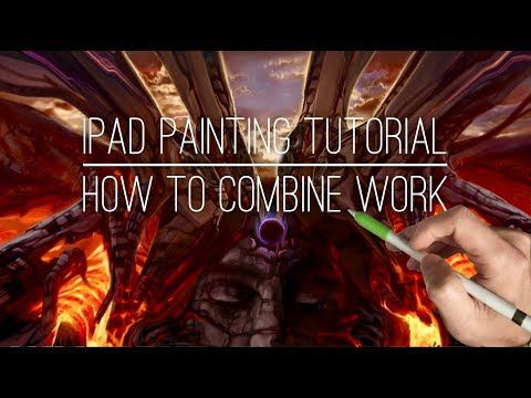 Apple Pencil drawing tutorial - HOW TO COMBINE PIECES TO MAKE NEW WORK