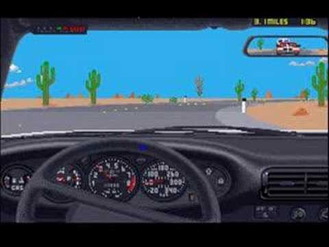 THE DUEL Test Drive II Porsche 959 VS Ferrari F40 on Amiga