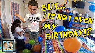 One of Dingle Hopperz's most viewed videos: FAKE BIRTHDAY CELEBRATION! MOM & DAD DECORATE ROOM! BIG SURPRISE! FUNNY REACTION! DINGLEHOPPERZ VLOG