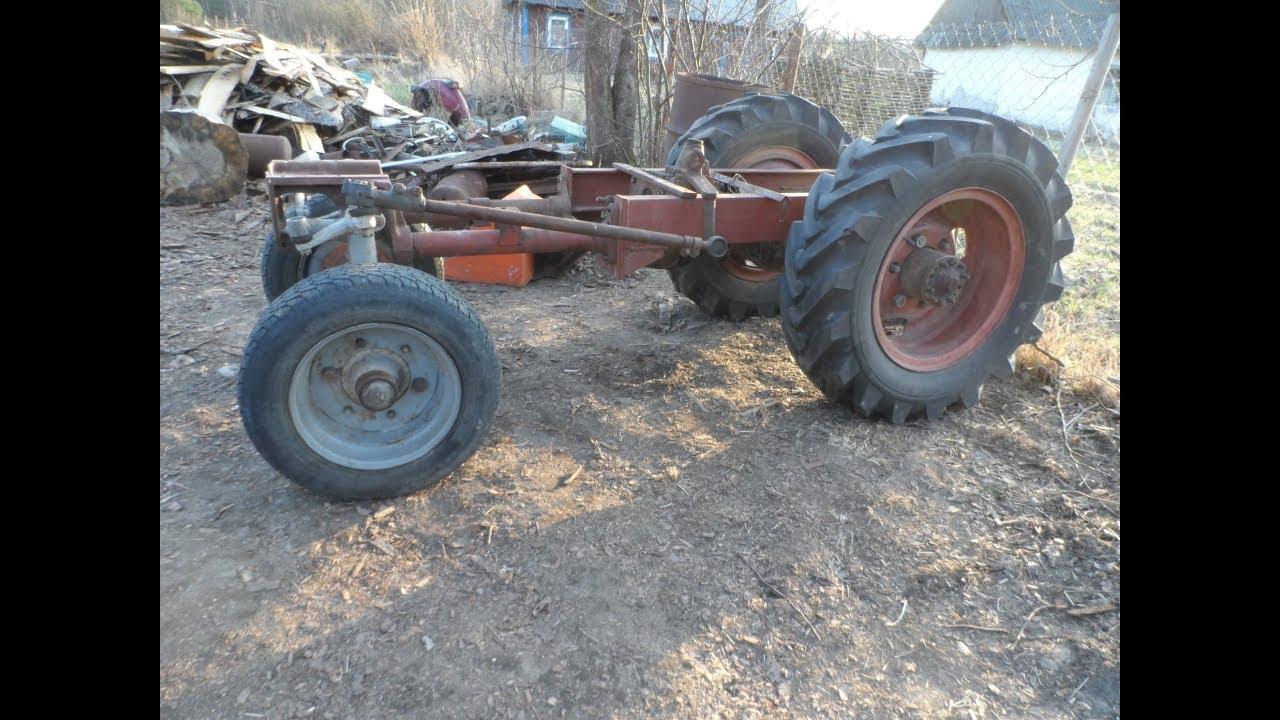 Самодельный трактор своими руками//мост газ 66, кпп газ 51 ДВС ЗАЗ 968