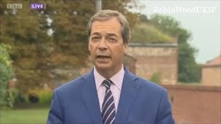 Nigel Farage is in Berlin talking to the A f D