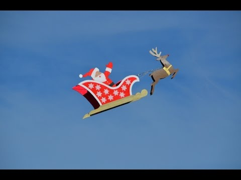 RC Flying Santa's Sleigh with Rudolf Drone by Otto Dieffenbach