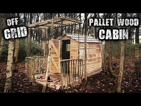 Building an Imperfect Cabin in the Wilderness for Free - Recycled Pallet Wood Project