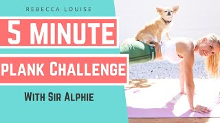 5 minute PLANK CHALLENGE workout for FLAT ABS! | Rebecca Louise
