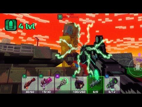 Hard Raid With Trader Van Weapons 4 Lvl Modules - Pixel Gun 3D