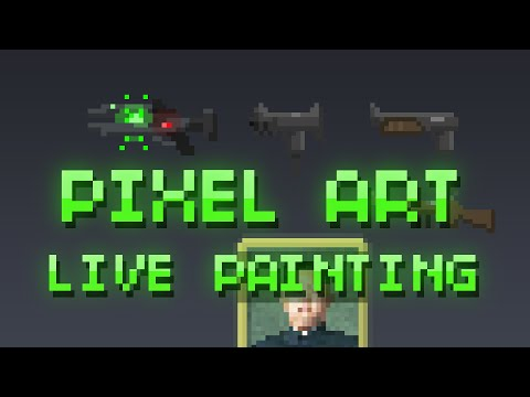Live Pixelart Painting : BFG 4000, Access card and a Canvas