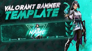 Free Valorant Banner Template | Photoshop Speedart Banner [2020]