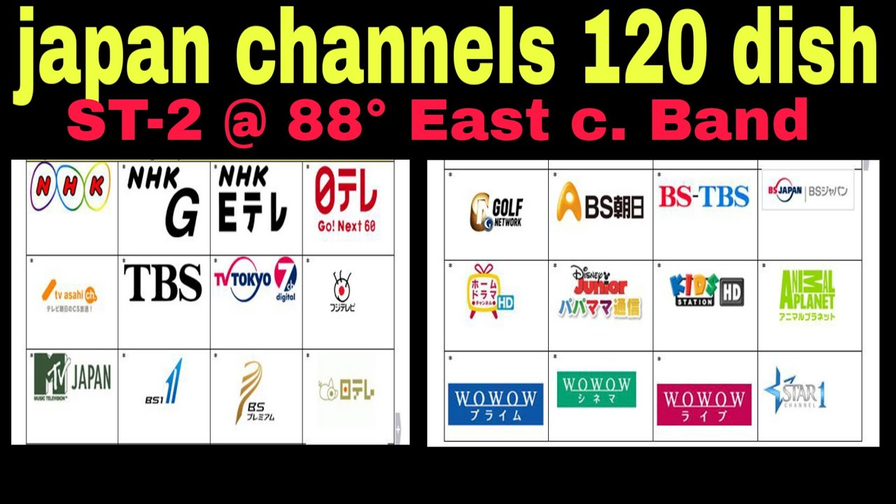 ST-2 @ 88° East c  Band Japan channel