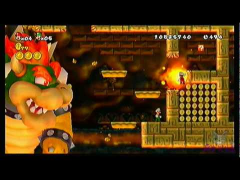 New Super Mario Bros. Wii - World 8-Castle (Bowser's Castle)