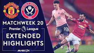 Manchester United v. Sheffield United | PREMIER LEAGUE HIGHLIGHTS | 1/27/2021 | NBC Sports