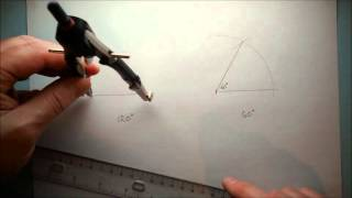 Construct 60 degree and 120 degree angles
