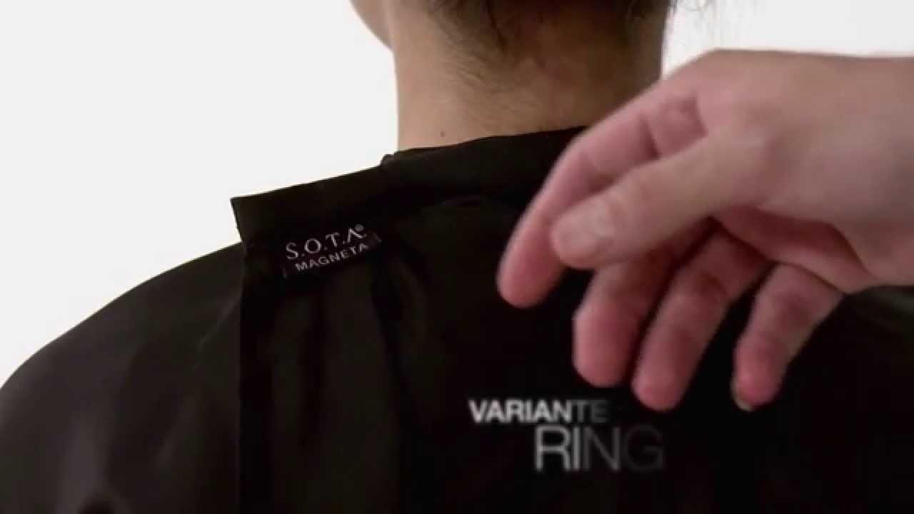 SOTA Magneta - Innovation für Friseure - Friseurumhang mit ...Friseurumhang