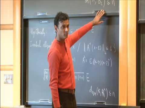 Nearly Optimal Deterministic Algorithms Via M-Ellipsoids - Santosh Vempala