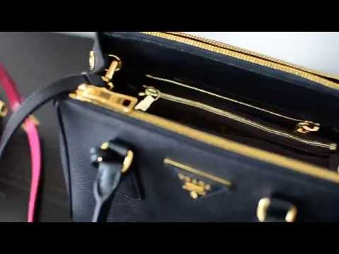 2260ee70be5688 Prada Saffiano Lux Tote Bag Purse Review - YouTube