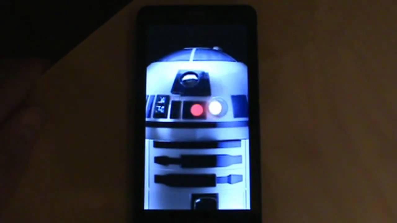 動画 Droid 2 R2 D2 エディション ブート画面とライブ壁紙が流出