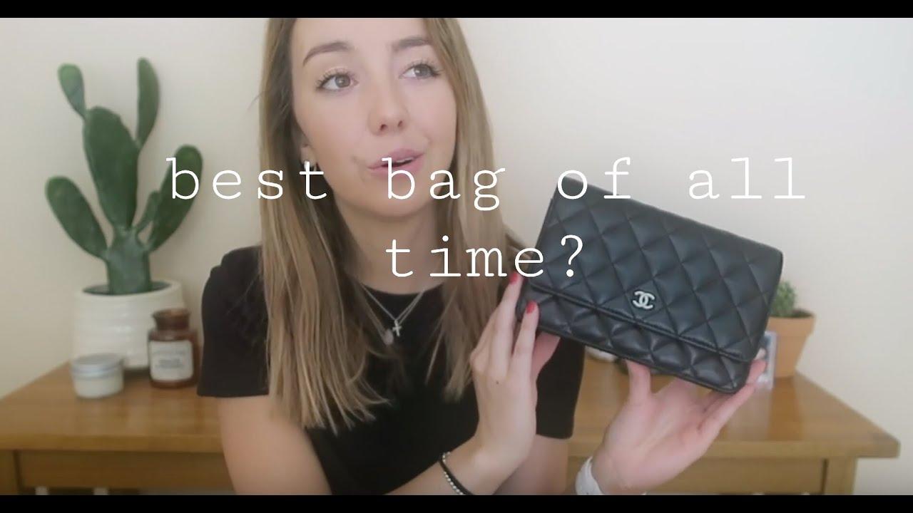 40e93007b9ce Chanel Lambskin WOC review - YouTube