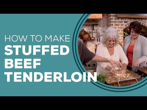 Bacon, Crawfish And Mushroom Stuffed Beef Tenderloin