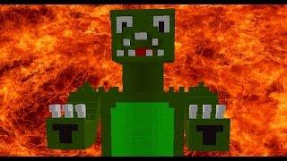 Мы с Теросером пытаемся выжить в горящей Годзиле в Майнкрафте! Проверяем себя на прочность!