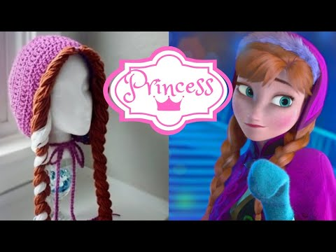 Disneys Frozen Anna Crochet Hat Youtube