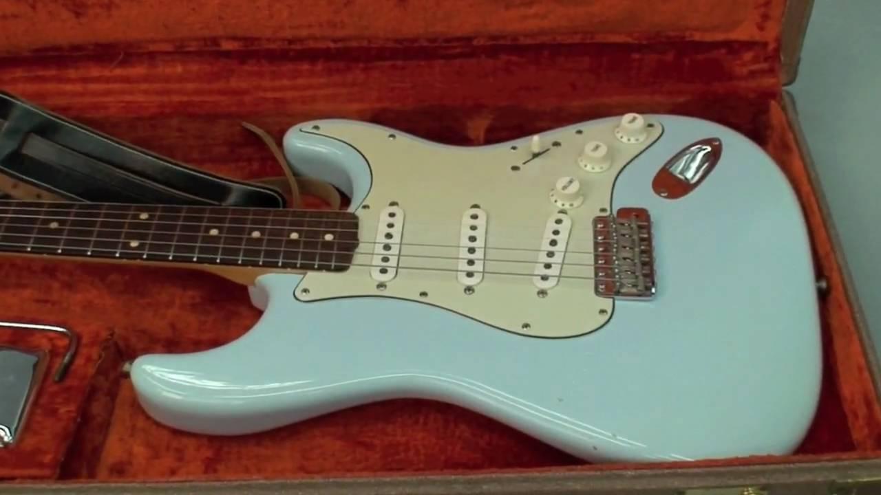 Original Vintage 1962 Fender Stratocaster Custom Color Sonic Blue Part 1 You