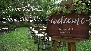 Justin and Lia Wedding Video Highlights, Richmond, Virginia 06/08/2019