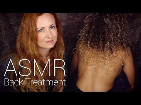 ASMR Back Tracing w/ Scratch, Brushing, Buds & Oil Massage