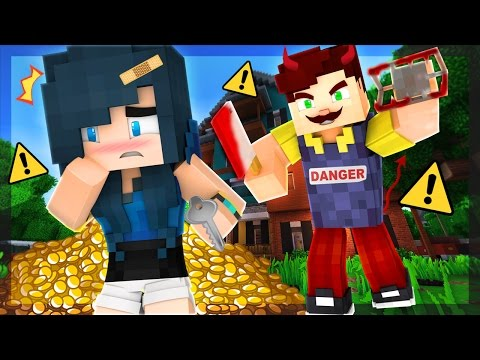 HELLO NEIGHBOR IN MINECRAFT! - WHY IS HE CHASING ME?! (Minecraft Roleplay)