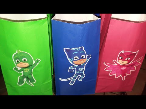 PJ MASK CANDY BAGS | 3RD BIRTHDAY