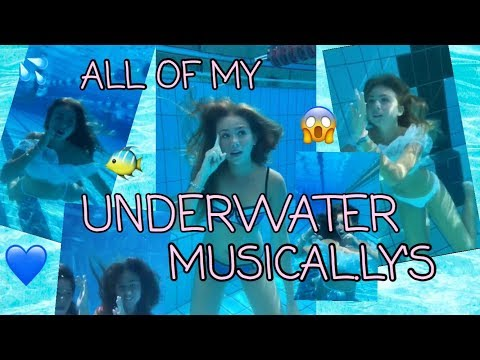 ALL OF MY UNDERWATER MUSICAL.LY´S!!😱💙│Dalia Mya♡