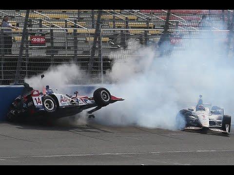 Takuma Sato Crash Compilation