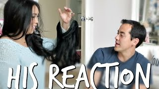 Reaction To My New Hair! - March 09, 2017 -  ItsJudysLife Vlogs
