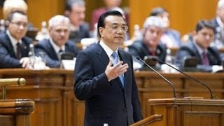 Chinese premier addresses Romanian parliament