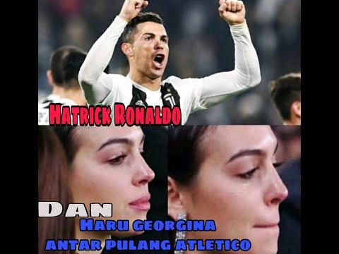 Ronaldo cetak hatrick georgina menangis haru