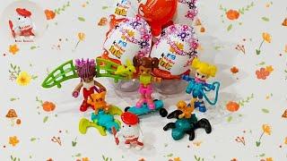 Видео обзор Киндер Джой Инфинимикс для девочек, прикольные игрушки от Киндер Сюрприз. #KinderJoy.