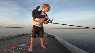 Kid catches PB - Bass Fishing! Coolest thing you'll see today!