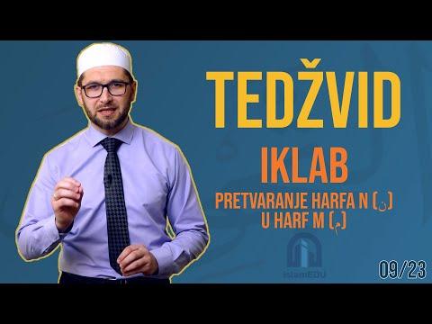 TEDŽVID: IKLAB - PRETVARANJE HARFA N (ن) U HARF M (م)