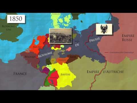 L'unification De L'Allemagne (1850-1871) (Carte Animée)