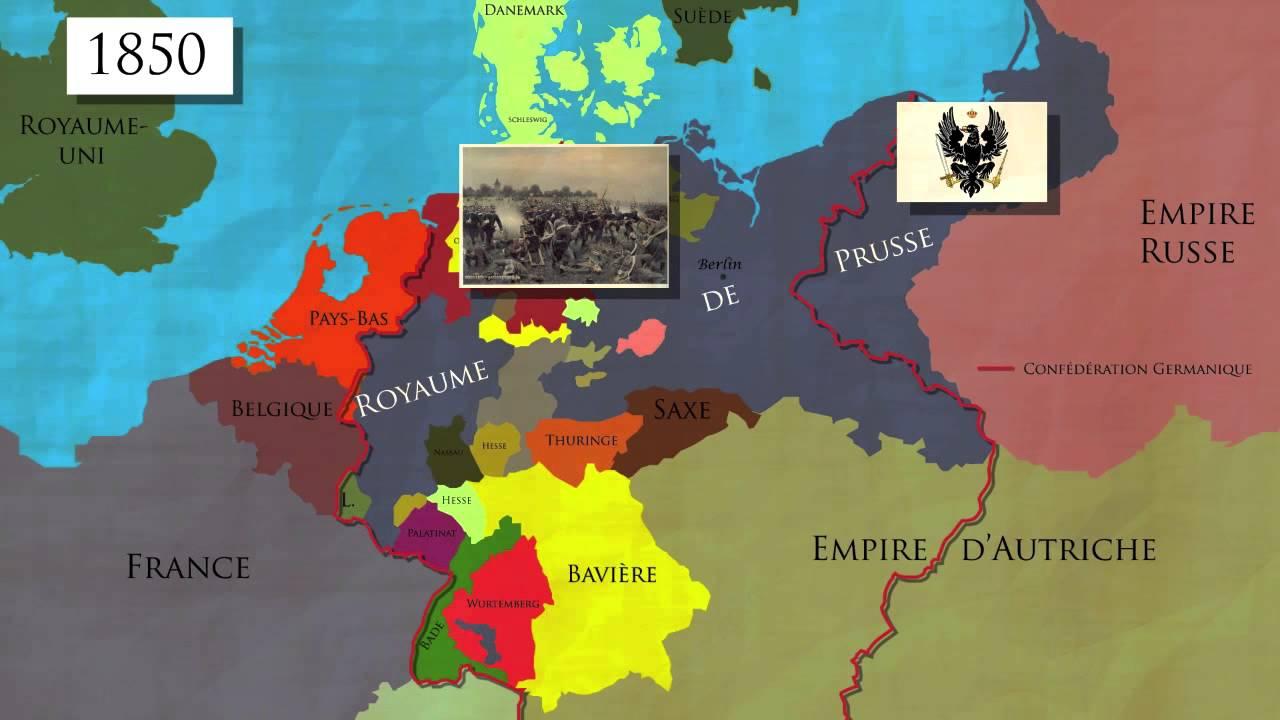 Carte Belgique Histoire.L Unification De L Allemagne 1850 1871 Carte Animee