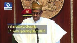 Buhari Attacks Obasanjo On Power Spending, Blasts NASS (Full Statement)