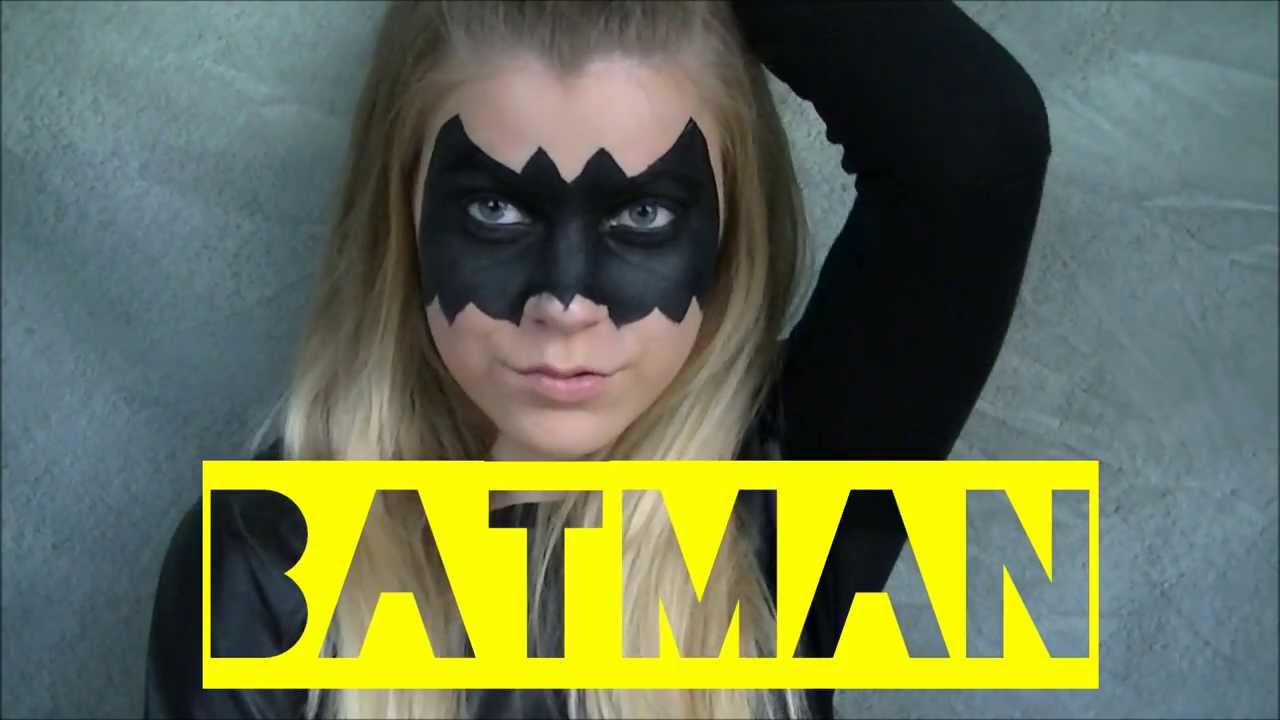 batman makeup halloween youtube. Black Bedroom Furniture Sets. Home Design Ideas