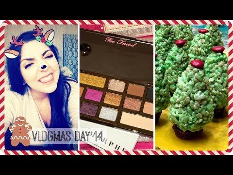 VLOGMAS 2017 ❄ Day 14 | Christmas Tree Rice Krispies, Ulta Haul, Christmas Shopping