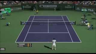 Federer vs Nadal (Tiebreak) - Tennis Elbow 2013